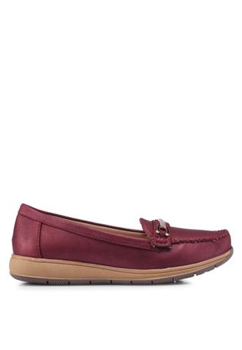 Noveni 紅色 金屬飾樂福鞋 58803SH606BC54GS_1