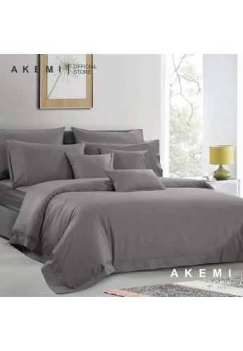 AKEMI grey AKEMI Cotton Select Affinity - Sage Box Grey (Fitted Sheet Set) AC543HL5A71382GS_1