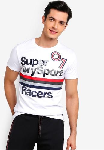 Superdry white Sport Racers Tee 3450DAA0FFF963GS_1