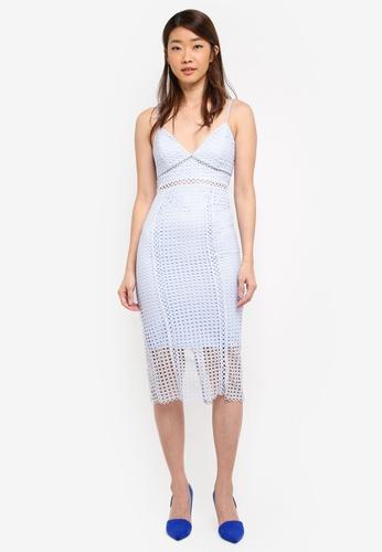 Bardot blue Circle Lace Dress BA332AA0ST9EMY_1