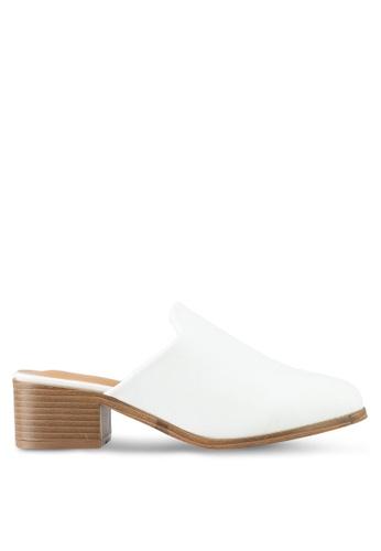 Something Borrowed white Slip-On Mules C38A4SH799111EGS_1