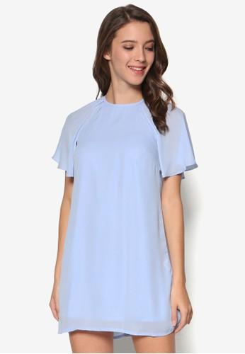 蝙蝠袖迷你連身esprit outlet 桃園裙, 服飾, 洋裝
