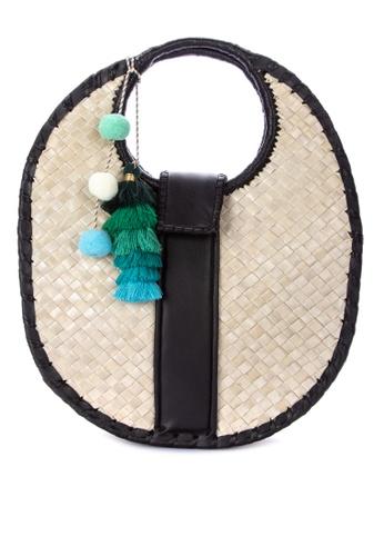 Shop Spring Fling Oval Native Handbag With Pompoms And Tassels