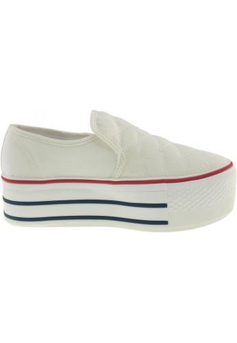 Maxstar Maxstar Women's C50 Stitched Platform Canvas Slip On Shoes US Women Size MA168SH01ZWOHK_1