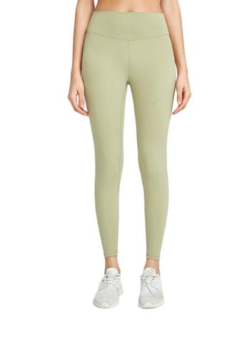 B-Code green ZWG1115b-Lady Quick Drying Running Fitness Yoga Leggings-Green 30068AA1F79A10GS_1