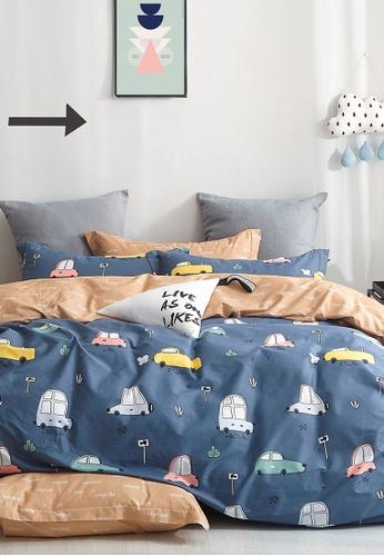 Epitex orange and blue Epitex CK2030-4 900TC Cotton Bedsheet / Bedset (w quilt cover). DB9EBHL1A9F47DGS_1