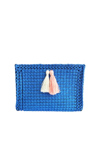 LIVLOLA blue Lilyanne Make Up Multipurpose pouch LI657AC36IWLMY_1
