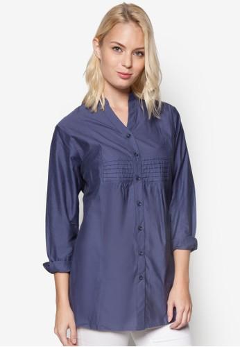 褶飾長袖上衣, 服飾esprit女裝, 襯衫