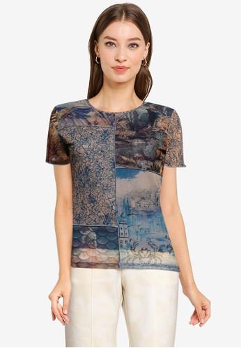 Desigual multi Slim T-Shirt 44ED6AA56FF5B8GS_1