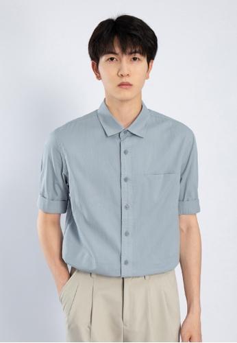 HAPPY FRIDAYS Simple Short Sleeve Casual Shirts AP2152 F7450AAF8437B9GS_1