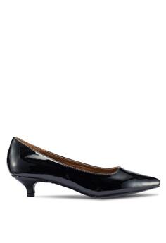 492ee113949 Carlton London black Low Heel Court Pumps 67F56SHDF620C4GS 1