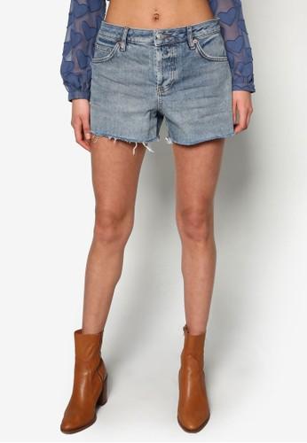 Moto 水洗Ashlesprit tote bagey牛仔短褲, 服飾, 休閒短褲