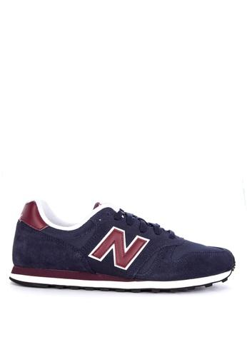 New Balance navy ML373 Lifestyle Sneakers D5BFASH4D70C5DGS_1