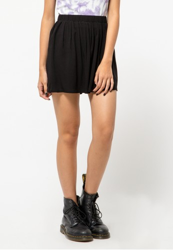 COLORBOX black Flare Skirt 0207AAA7CAF018GS_1