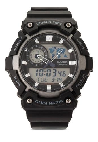 Casio multi Casio Youth Analog-Digital Black Dial Men's Watch CA843AC49VICMY_1
