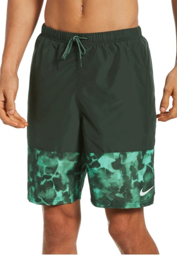 "Nike green Nike Swim Men's Cloud Dye Packable 9"""" Volley Short 67B1FUSB997FD5GS_1"