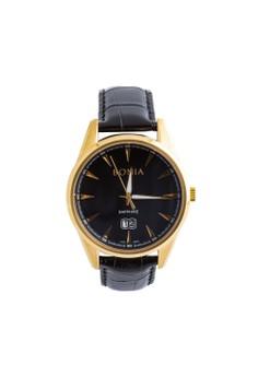 Bonia B10318-1232 - Jam Tangan Pria - Black Gold