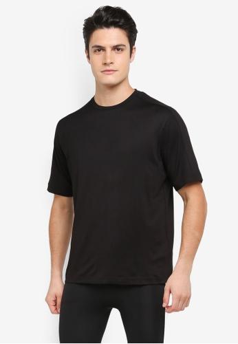 Calvin Klein black Mid Sleeve T-Shirt with Panel - Calvin Klein Performance E9C51AA19A2CDDGS_1