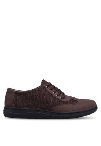 Rocklander brown Mixed Material Sneakers 7238CSHAEBBB41GS_1