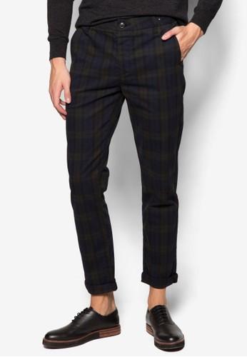 格紋窄管長褲、 服飾、 服飾Topman格紋窄管長褲最新折價