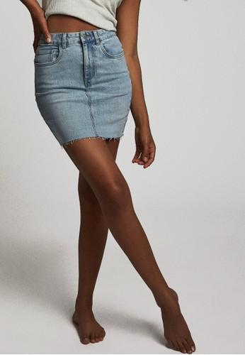 Cotton On blue Classic Stretch Denim Mini Skirt 678B9AA9D988F3GS_1