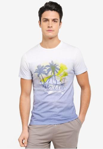 JAXON white and blue and multi Aloha Tee 37881AABB75681GS_1