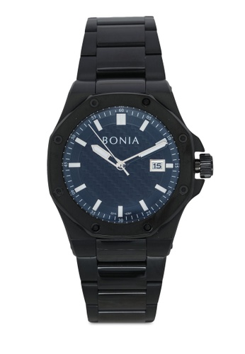 BONIA black Bonia BNB10291-1732 Black Stainless Steel Watch BO777AC0SE0BMY_1