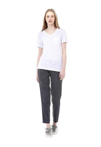 VOV(Voice of Voices) white Round Pocket T-Shirt 60B7EAAF03E05DGS_1