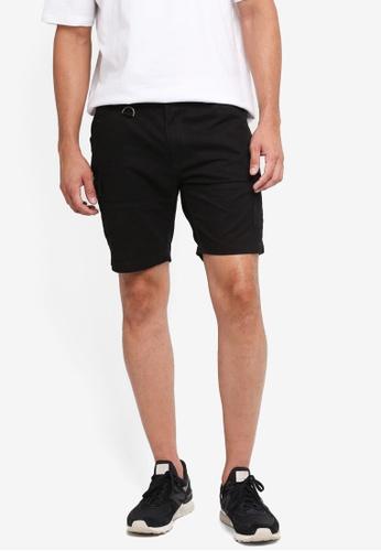 SPARROW GREEN 黑色 休閒素色短褲 B07F7AA10CA042GS_1