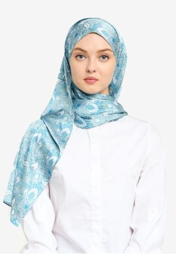 Hijabii 藍色 印花頭巾 4277CACEB98843GS_1