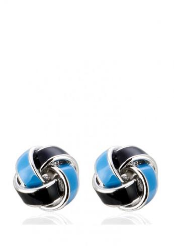 Kings Collection blue Knot Cufflinks F4CFAAC0940B76GS_1