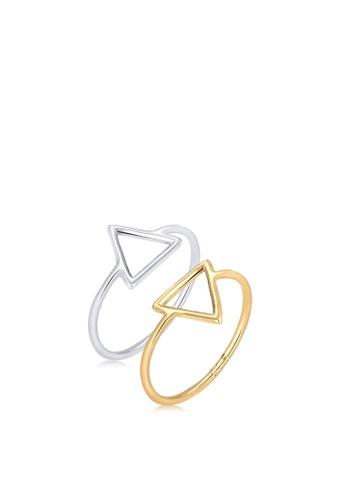 ELLI GERMANY silver Elli Germany 925 Sterling Silver Triangle-Shape Ring Sets C016BAC0E531B9GS_1