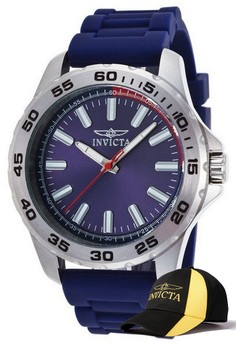 Pro Diver Men 45mm Case Watch 21856 with FREE Baseball Cap