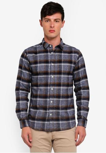 Selected Homme 藍色 Reggunnar-Niels Long Sleeve Shirt F8052AA5CE6534GS_1