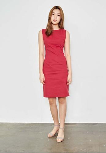 簡約無袖及膝鉛筆洋裝, 服飾,esprit台北門市 洋裝
