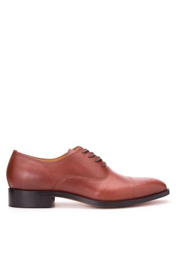 Bristol Shoes brown Benedict Brown Cap Toe Oxford BR842SH85JTYPH_1