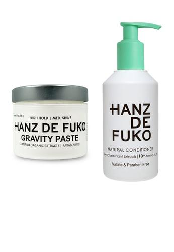 Hanz de Fuko Hanz de Fuko Natural Conditioner and Gravity Paste Set HA369BE11OKMSG_1