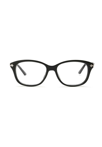 Kyfer's Eyewear & Essentials black and silver Cat Eye Diamondfront Glasses KY376AC71IRWSG_1