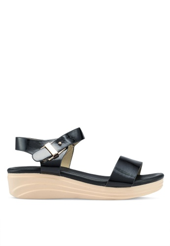 Mimosa black Platform Sandals 0726FSHBC1C3FFGS_1