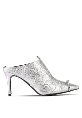 House of Avenues silver Night To Day Mule Heels 5D0D5SH43B7709GS_1