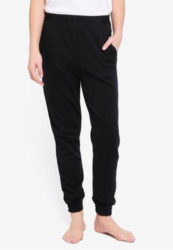 Calvin Klein black Tonal Logo Joggers - Calvin Klein Underwear 377E2AA009D545GS_1