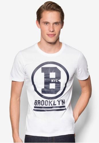 文字設計圓領T 恤, 服飾esprit retail, 服飾