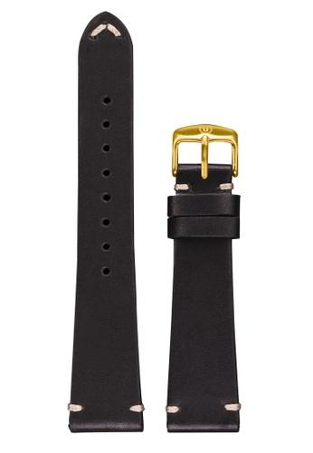 Undone black Undone Black Calf Leather Strap 20mm (Gold Buckle) UN712AC2VEJUHK_1