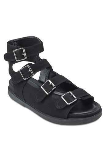 Chunk Buckle Gladiator esprit門市Sandals, 女鞋, 鞋