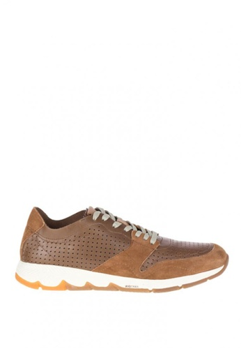 Hush Puppies brown TS Field Sprint Sneakers 1ACCASH0423276GS_1