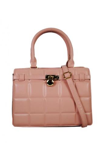 Kimbel International pink BCA8885 Handbag with Sling 2A8F0ACCB3F00BGS_1