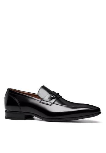 Twenty Eight Shoes 黑色 精緻的易穿脫真皮商務鞋 VMF6710 54158SH8DDA273GS_1