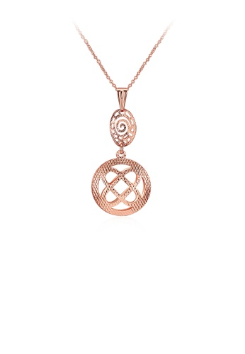 Glamorousky silver Elegant Fashion Rose Gold Plated Pendant with Necklace CE40CACB579074GS_1