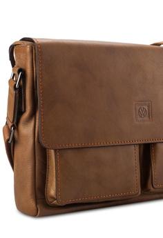 796612e34f Volkswagen brown Volkswagen Genuine Leather Sling Bag VO089AC46EHXMY 1