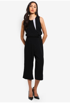c6c48a28d36 Dressing Paula Color-block Crepe Jumpsuit RM 159.90. Sizes XS S M L XL